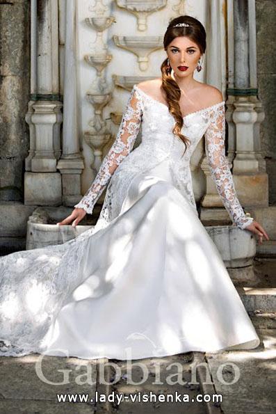 Brautkleider mit Spitzen ärmeln Foto - Gabbiano