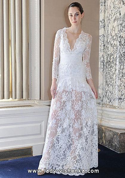 Brautkleider mit Spitzen ärmeln 2016 - Christos Costarellos