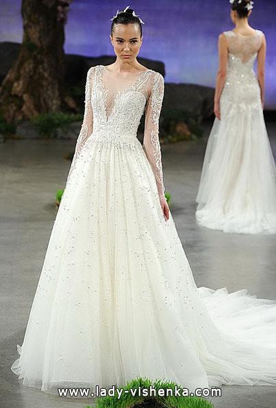 Brautkleider mit Spitzen ärmeln - Ines Di Santo