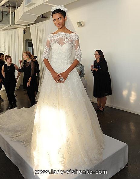 Brautkleider mit Spitzen ärmeln - die Marchesa