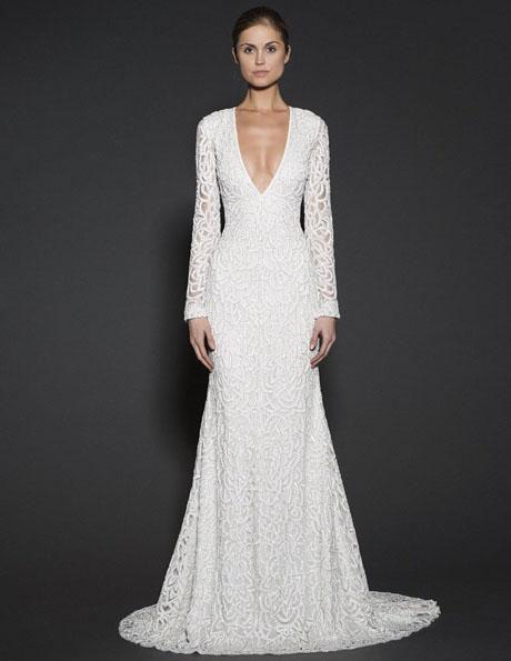 Brautkleider mit Spitzen ärmeln - Naeem Khan
