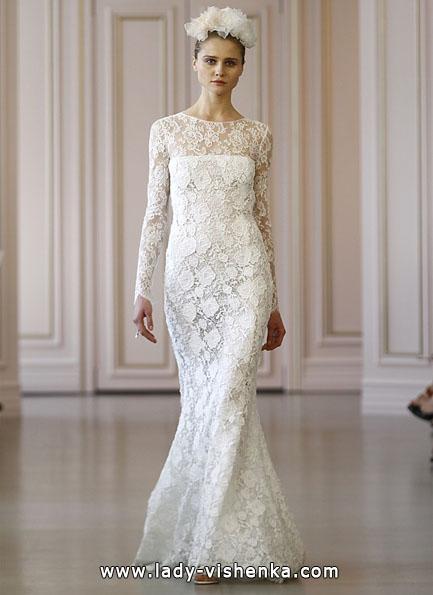 Brautkleider mit Spitzen ärmeln - Oscar De La Renta