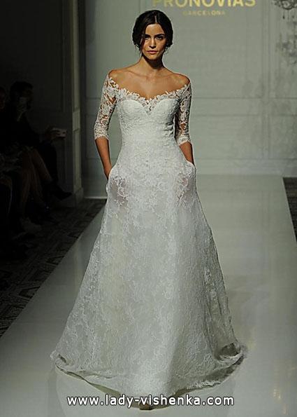 Brautkleider mit Spitzen ärmeln 2016 - Pronovias