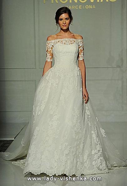 Lace-Hochzeit-Kleider mit langen ärmeln - Pronovias