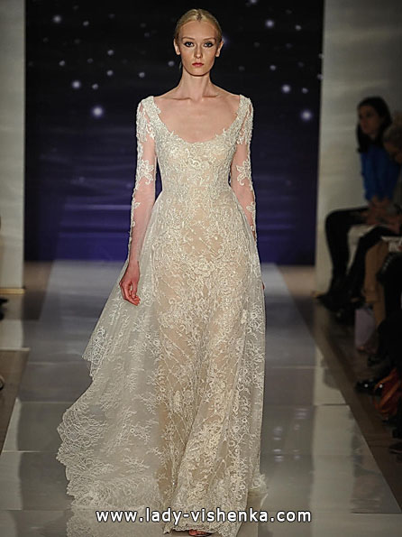 Brautkleider mit Spitzen ärmeln 2016 - Reem Acra