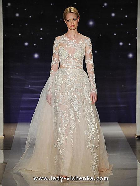Brautkleider mit Spitzen ärmeln Foto - Reem Acra