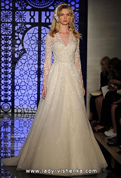 Brautkleider mit Spitzen ärmeln - Reem Acra