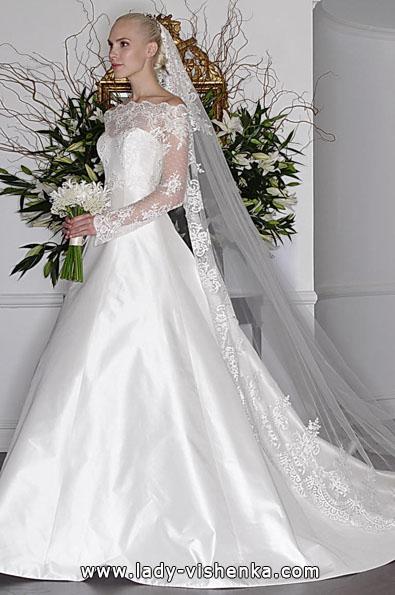 Brautkleider mit Spitzen ärmeln - Romona Keveza