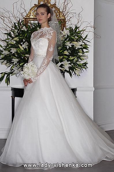 Brautkleider mit Spitzen ärmeln 2016 - Romona Keveza