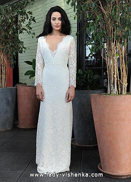 Brautkleider mit Spitzen ärmeln - Sarah Seven