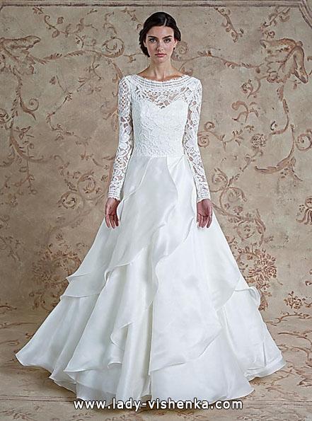 Brautkleider mit Spitzen ärmeln - Sareh Nouri