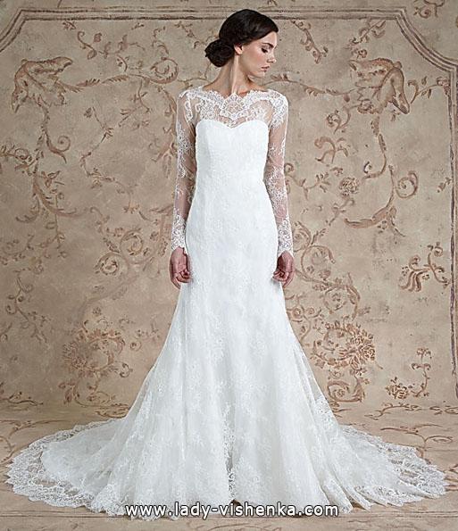 Lace-Hochzeit-Kleider mit langen ärmeln - Sareh Nouri