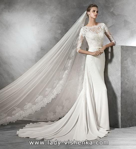 Brautkleider mit Spitzen ärmeln Foto-2016 - Pronovias