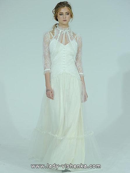 Brautkleider mit Spitzen ärmeln Foto - Claire Pettibone