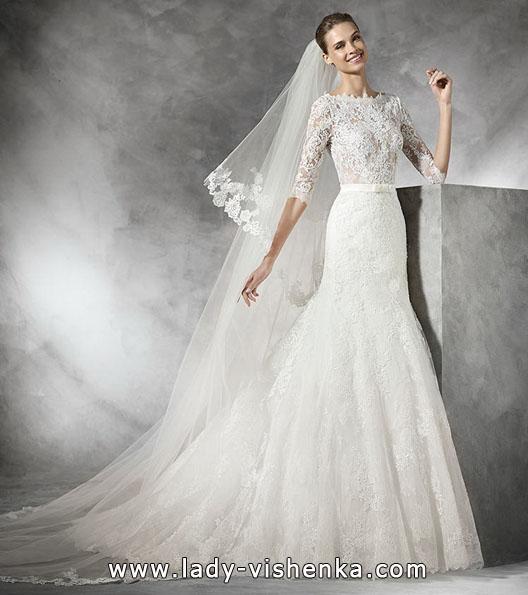 Hochzeits-Kleid mit Spitze ärmeln - Pronovias