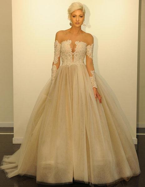 Brautkleider mit Spitzen ärmeln - Victor Harper