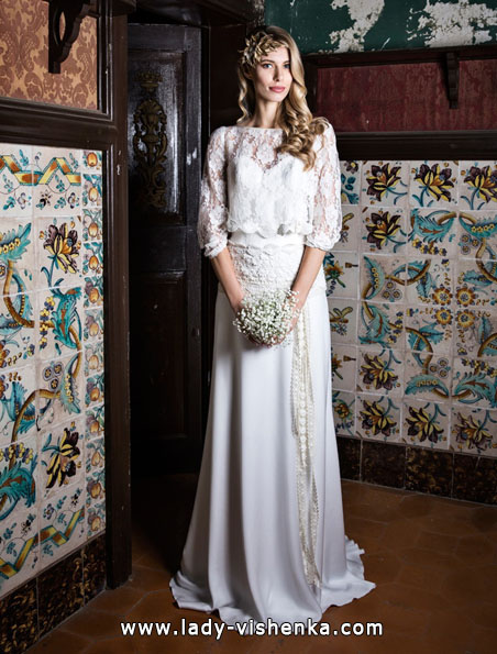 Brautkleider mit Spitzen ärmeln - Jordi Dalmau