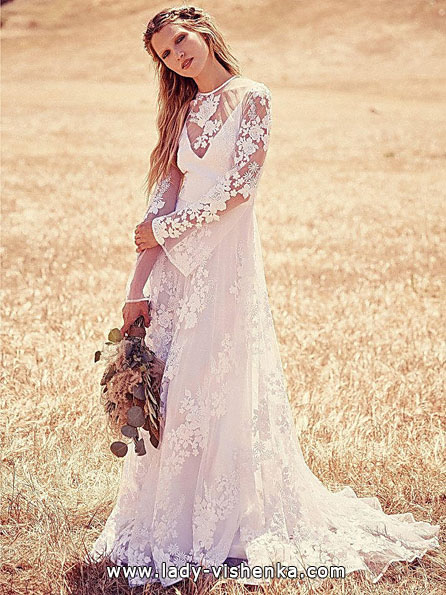 Brautkleider mit Spitzen ärmeln - Free People