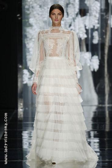 Hochzeits-Kleid mit ärmeln aus Spitze YolanCris