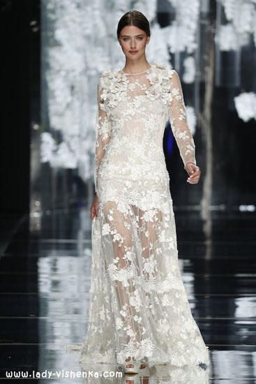 Hochzeits-Kleid mit ärmeln aus Spitze-2016 YolanCris