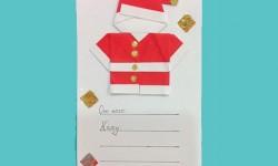 Einfache handgemachte Karte - Santa Claus