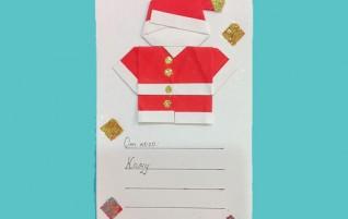 Einfache handgemachte Karte — Santa Claus