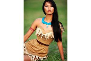 Kostüm Pocahontas für Halloween für Mädchen