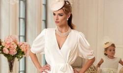 Короткие свадебные платья с рукавами - статья (20 фото)