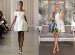 Короткие свадебные платья 2016