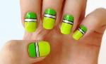 Летний дизайн ногтей с линиями