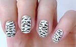 Зебра ногти